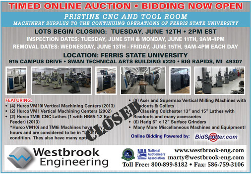 PRISTINE-CNC-and-Tool-Room-Machinery-Surplus-to-the-Continuing-Operations-of-Ferris-State-University_auctions_gallery
