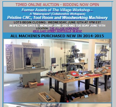 Village Workshop Auction Flyer 2